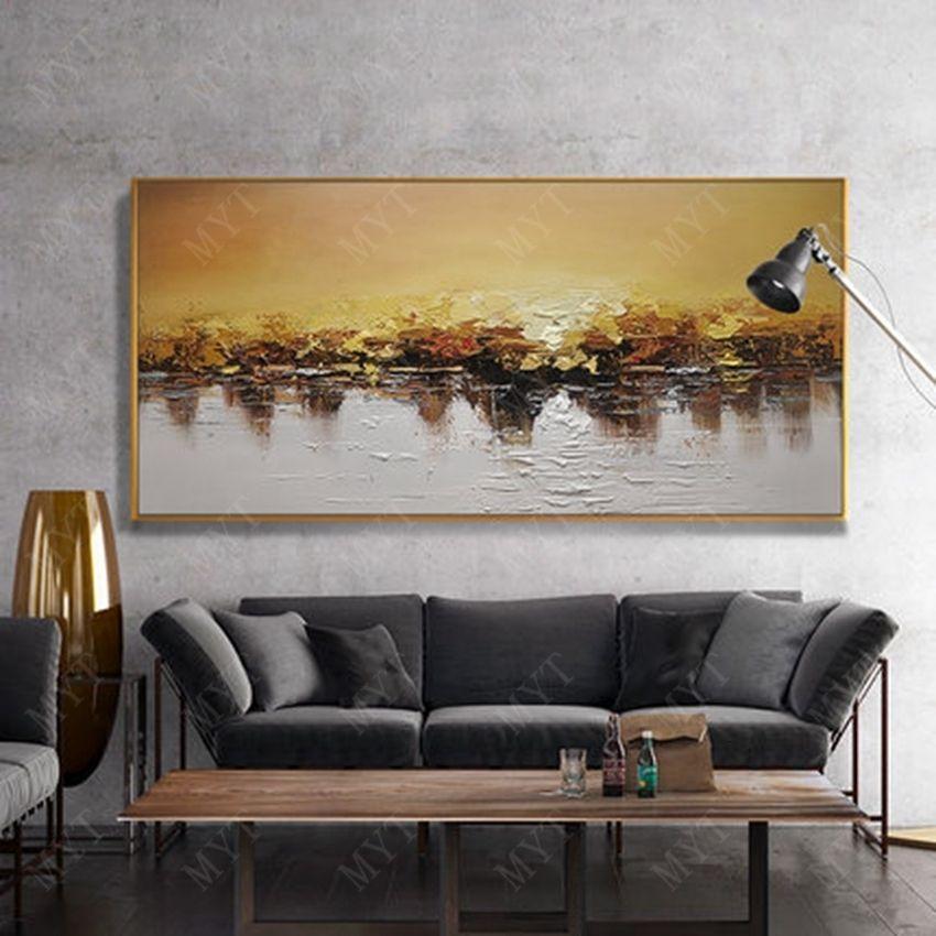나이프 손으로 그린 유화 벽 예술 캔버스 손으로 만든 작품은 거실 벽 장식 선물 SH190918에 대한 사진을 페인트