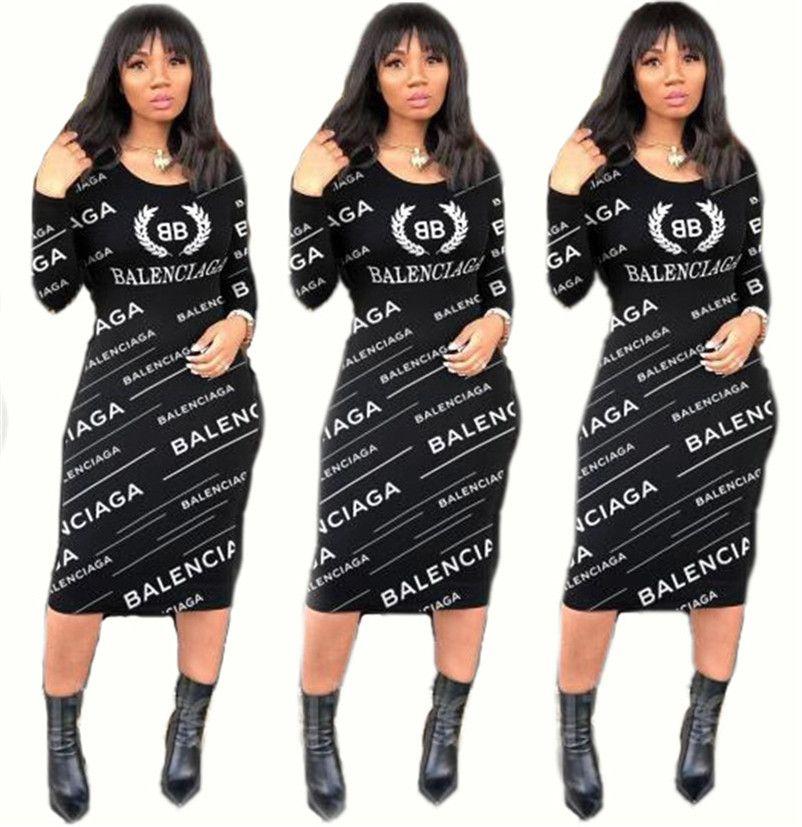 Kadınlar Günlük Midi Elbiseler 1462 Kış Giyim Katı Renk Tişörtü Uzun Kollu Skinny Parti Elbise S-2XL Kapüşonlular Moda Fall