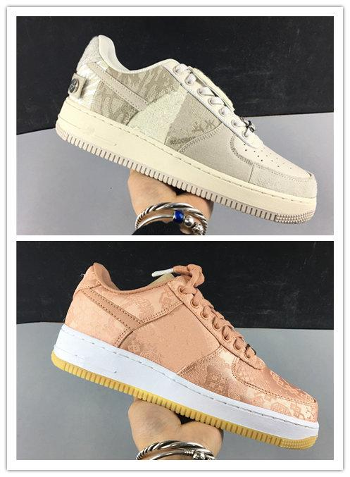 Wholesale with box 2020 New Clot Rose Gold white grey men women Low basketball shoes outdoor trainers top quality free shipping size 36-46