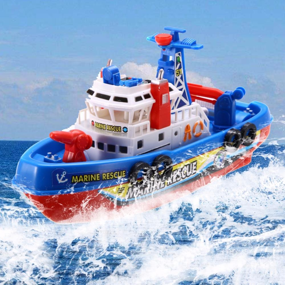 Toddler Baby Bath Toy Boat Rescue Squirts + Rides In Water Time Squirting Ship Boys Gift Mayitr