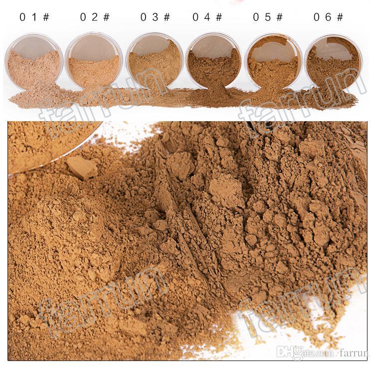 no logo 6 color loose powder 6 bottles of base points let you face powder makeup beauty large conpacity 20g worth get
