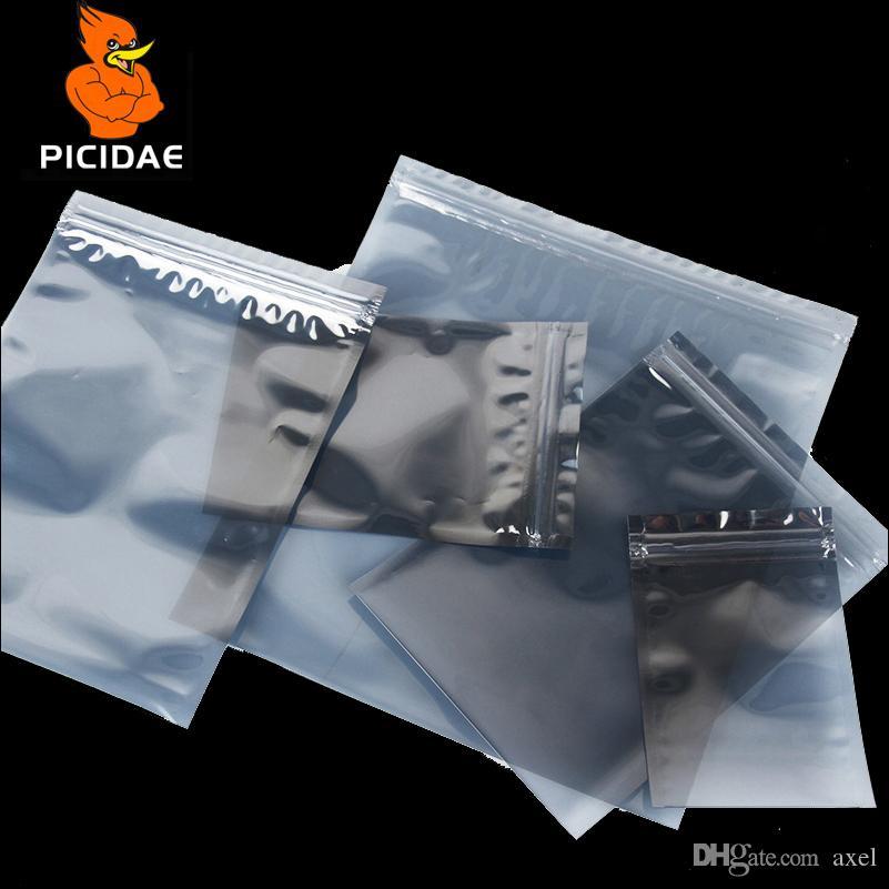 17x23 cm Anti-static shield zipper Bone ziplock plastic Packaging Bag electronic Optical drive Components Hardware Circuit IT IC Pcb boar
