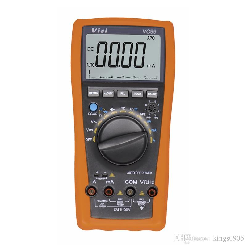 Brand New VC99 3 6/7 Auto Range Digital Multimeter Better Ammeter DCV/ACV/ACA Resistance Capacitance Frequency Meter With Bag