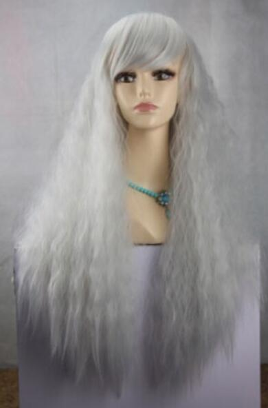 FREE SHIPPING+ + Bea utiful New Cosplay Light Blue Curly Short Wig