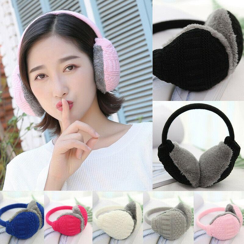 Unisexe hommes hiver chaud oreille couverture tricotée Furry Cache-oreilles amovibles lavables oreilles Protecteurs Accessoires