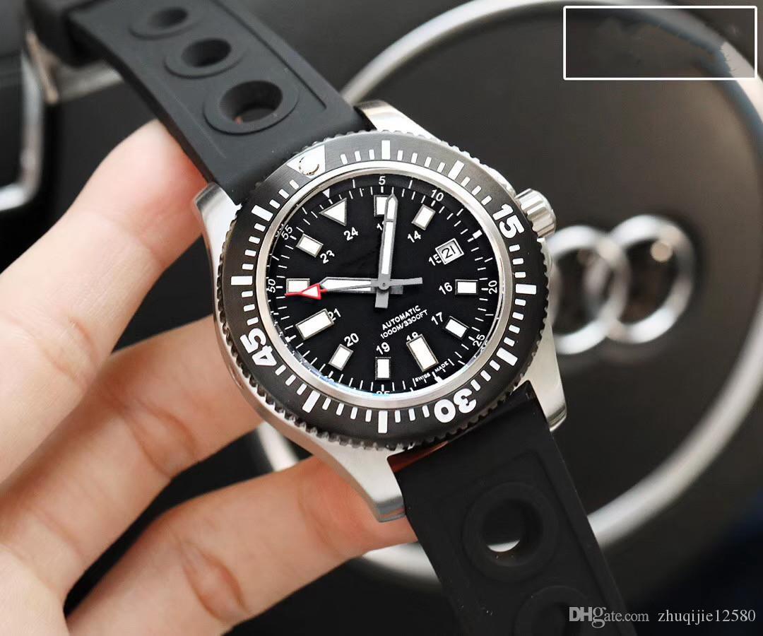 mens luxo atacado designer relógios pulseira de borracha de discagem 44 milímetros relógios série oceano safira tampo de vidro de qualidade Miyota movimento automático watc