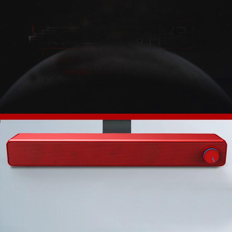 La barra de altavoces USB con conexión de cable estéreo potente ordenador barra de altavoces altavoz subwoofer Bass Surround Sound Box para el teléfono portátil Tablet PC V195 MP3 MP4