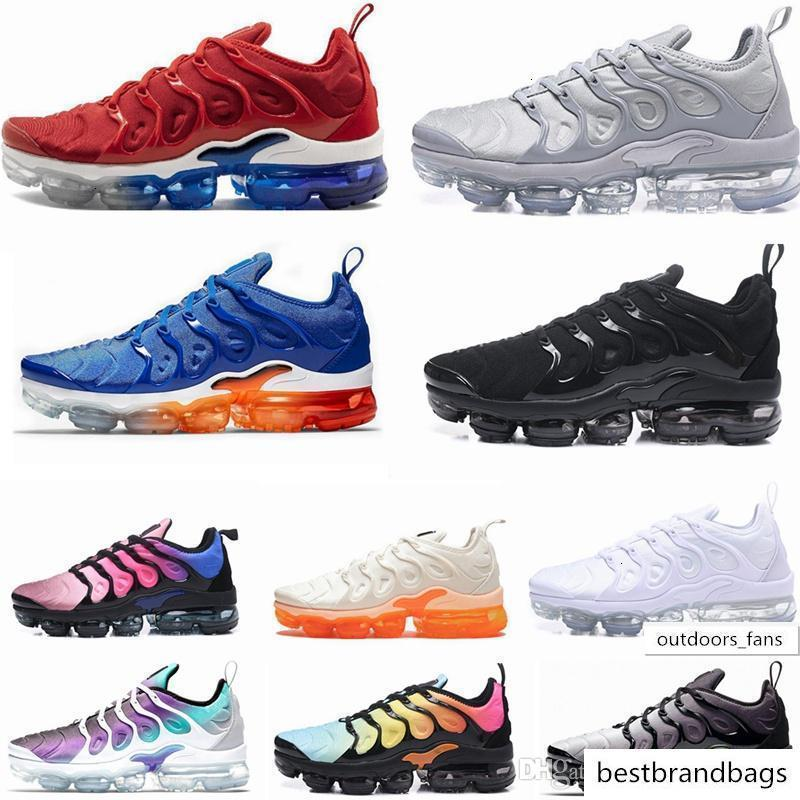 2019 New Vapors Designers TN Plus Olive White Silver Shoes Men Shoes For Male Shoe Maxes Pack Triple Black Casual Shoes 36-45