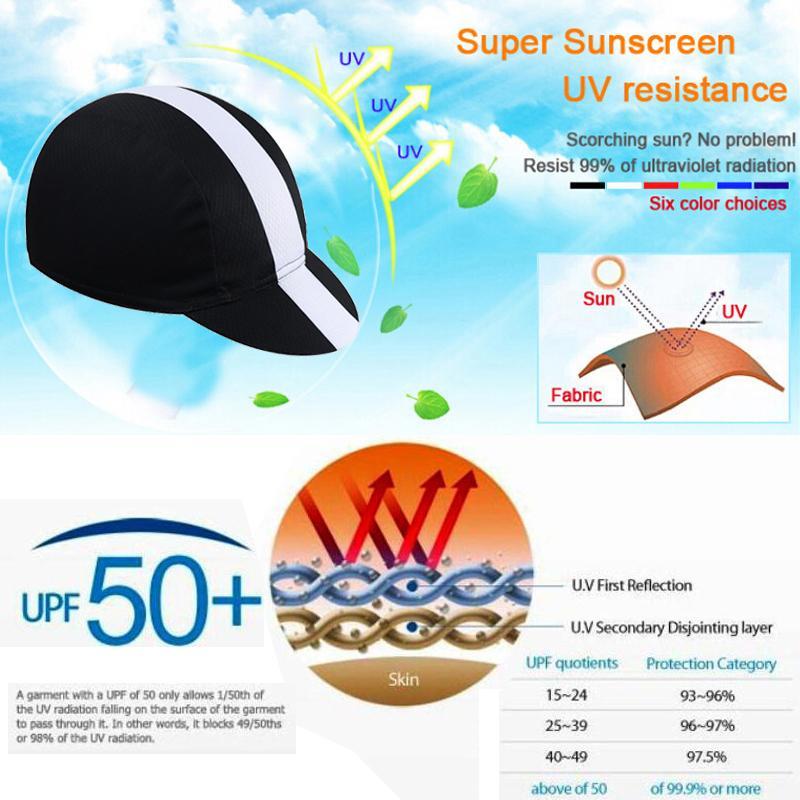 SIILENYOND 100% Polyester Außen Sport Baseball Fahrrad fährt Moto Helm Kopfbedeckung Stirnband Mützen Bandana Radmütze