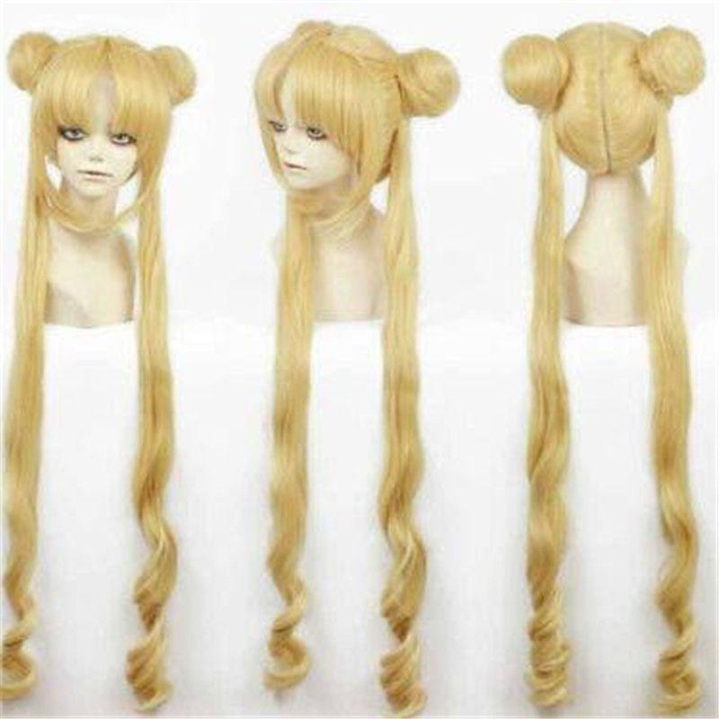 Costumes fille Sailor Moon cosplay perruque Tsukino Usagi et la Princesse perruque Serenity