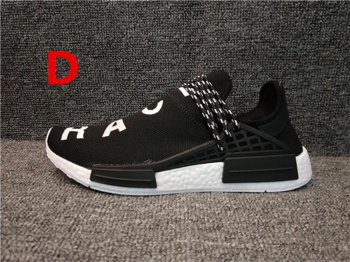 Race humaine Pharrell Williams piste Hu NERD Hommes Femmes Chaussures de course coeur blanc encre noble chaussures de sport noir rouge baskets concepteur 36-45