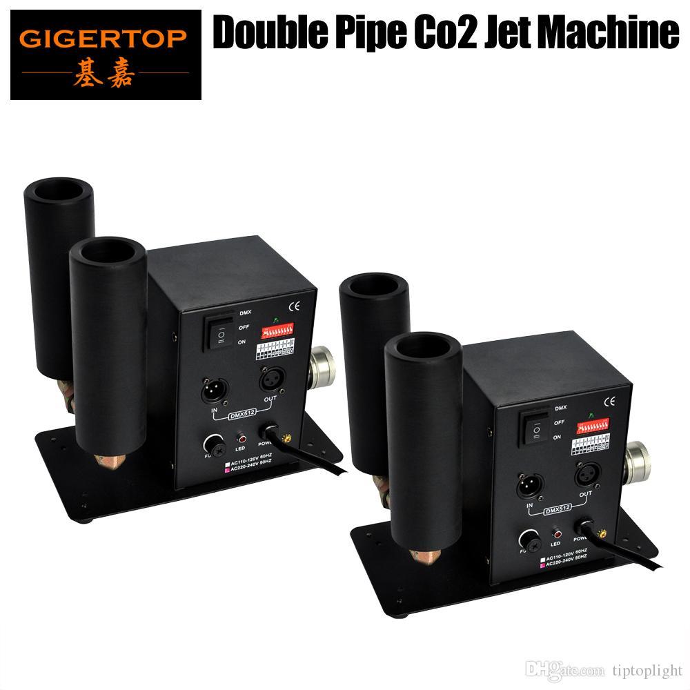 TIPTOP Bühnenleuchte 2 x Lot Mini-Größen-CO2-Kryo-Strahl mit doppelt seitlicher Strahldüse DMX512 / Handsteuerung 2 Kanäle CO2-Nebelkühlsystem
