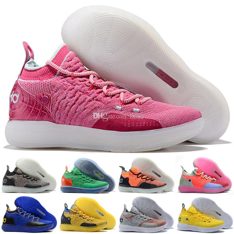 Hot Zoom Kevin Durant KD 11 Multi-Color KD11 11S Numbers BHM Igloo Men Anniversary University Basketball Shoes X Elite Mid Sport Sneakers