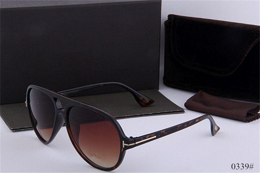 top novo qualtiy superior luxo Novos Moda Tom óculos de sol para 0339 Man Woman Erika Eyewear Designer Marca óculos de sol com caixa original