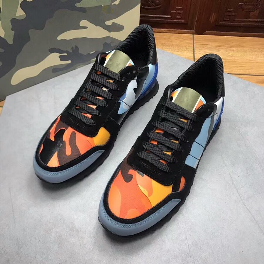 Hommes Chaussures mode Camo camouflage Rockrunner Entraîneur dentelle cuir Chaussures de sport de luxe Hommes Chaussures Top Designer S01