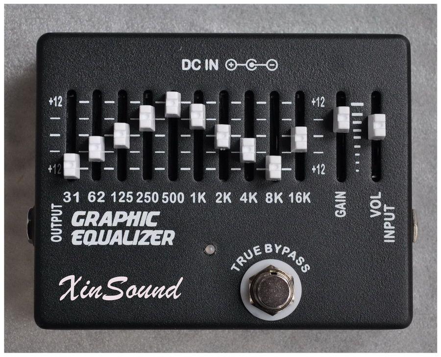 10 + 2 Bant Ekolayzer EQ Gitar Efektleri Pedal El Yapımı Grafik Ekolayzer tarafından XinSound EQ-99