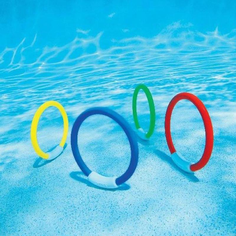 Pack von 6 Nummeriert Tauchen Ring Wasser Spielzeug Set Kinder schwimmen