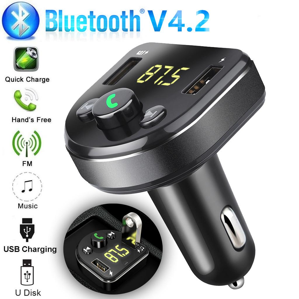 Bluetooth Car USB Charger FM Transmitter Wireless Radio Adapter MP3 Player USB2.1A charger, Bluetooth version 3.0 20190703