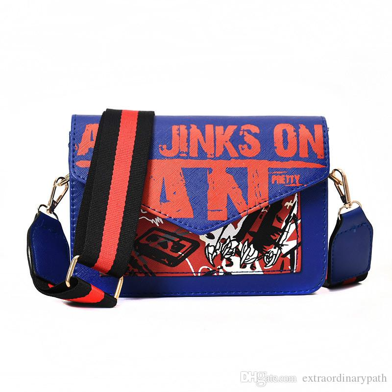 hot sale pu leather Inclined shoulder bag 2019 new single shoulder mini Mobile phone bag vogue printing woman bag free shiping