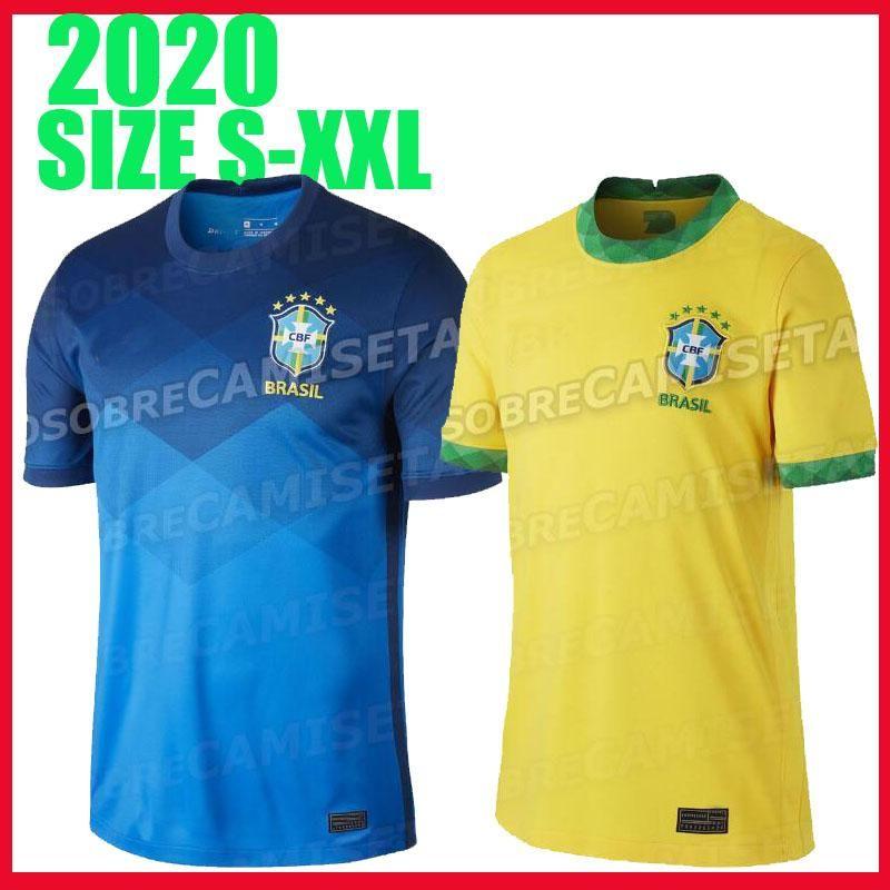 Brésil maillots de football chemisette de futebol copa america 2020 brasil G. JESUS MARCELO FIRMINO jersey COUTINHO VINICIUS football chemise