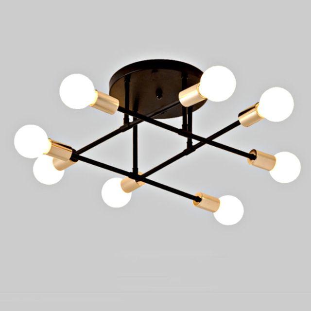 6/8 plafond Lumière Salon Ironhead LED industrielle d'éclairage nordique 220 V E27 lampe LED