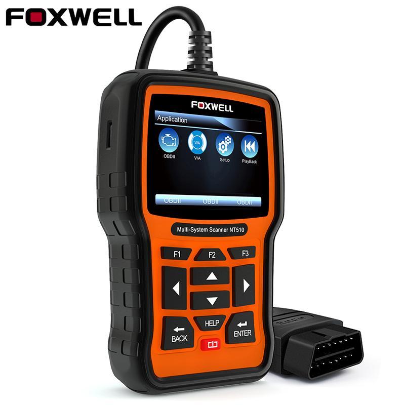 Foxwell NT510 OBD2 Diagnostic Tool for Vag for VW Audi Seat Skoda Oil Reset EPB BRT DPF SRS ABS SAS OBD 2 Auto Code Scanner
