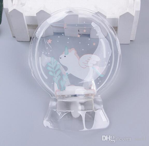 Rodada Mini Mão PVC Transparente Garrafa De Água Quente Pequeno Acondicionamento De Água Quente Bolsas Saco De Água Quente Unicorn