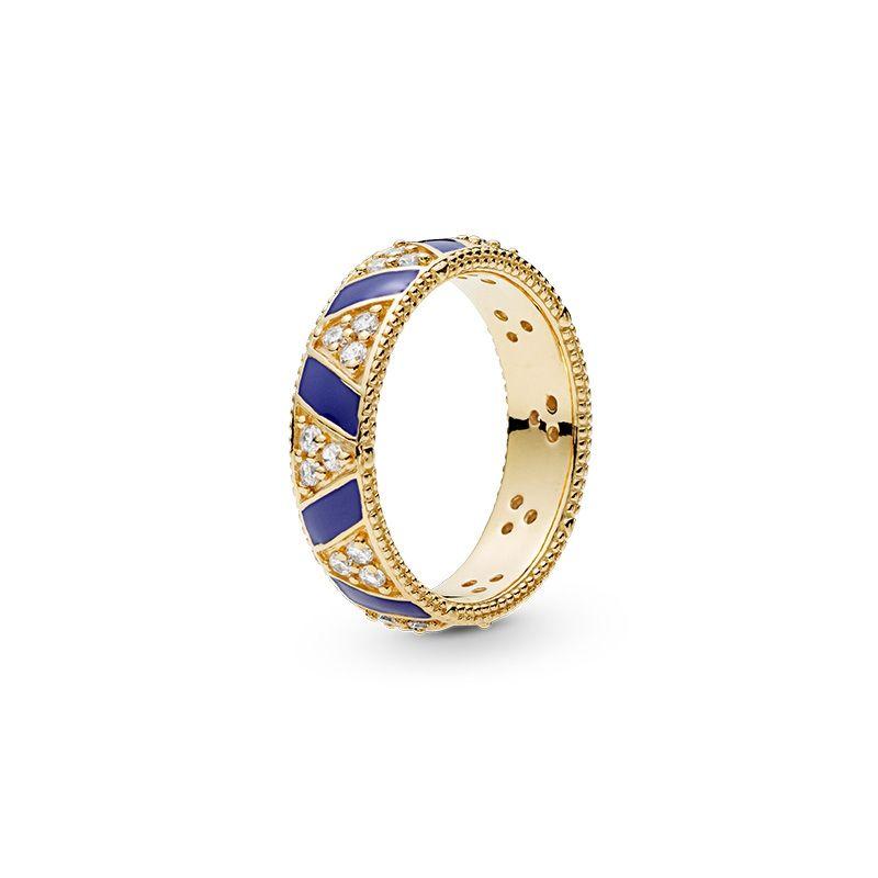 الأحجار الكريمة الشريط الدائري ل باندورا فاخر مصمم مجوهرات الأزياء عالية الجودة الدائري تشيكوسلوفاكيا خمر شخصية الاتجاه أنثى الدائري