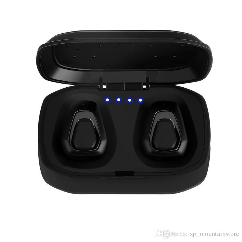 새로 무선 블루투스 헤드셋 스테레오 Handfree 스포츠 블루투스 이어폰 안드로이드 PK X2T i7 / i7s (소매)에 대 한 충전 상자와 함께