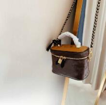 bolsa quente bolsa L flor etiteMaille caixa de bolsa de ombro senhoras crossbody flor amarela pacote saco mongram bolsa mulheres couro balde carteira