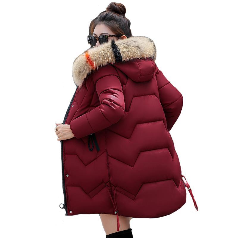 2019 Nouvelle Arrivée Hiver Veste Femmes De Haute Qualité À Fourrure À Capuche Longue Femme Manteau Outwear chaud Épaissir Femmes Parka Abrigo Mujer