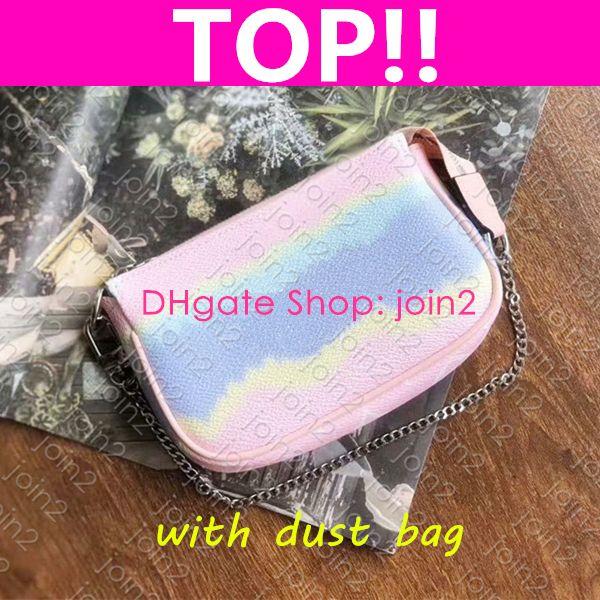 M69269 ESCALE MINI POCHETTE ACCESSOIRES diseñador de moda mujer de la lona bolsa de embrague de la tarde Zippy cadena carpeta de la moneda monedero del teléfono Bolsa de playa