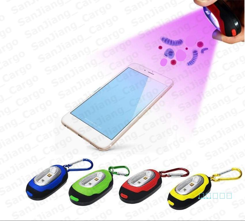 الهاتف الذكي المحمولة uv المطهر uvc عصا التطهير مصباح ضوء مدمج مصغرة سلسلة المفاتيح uvc للجراثيم مصباح يده التعقيم E51003