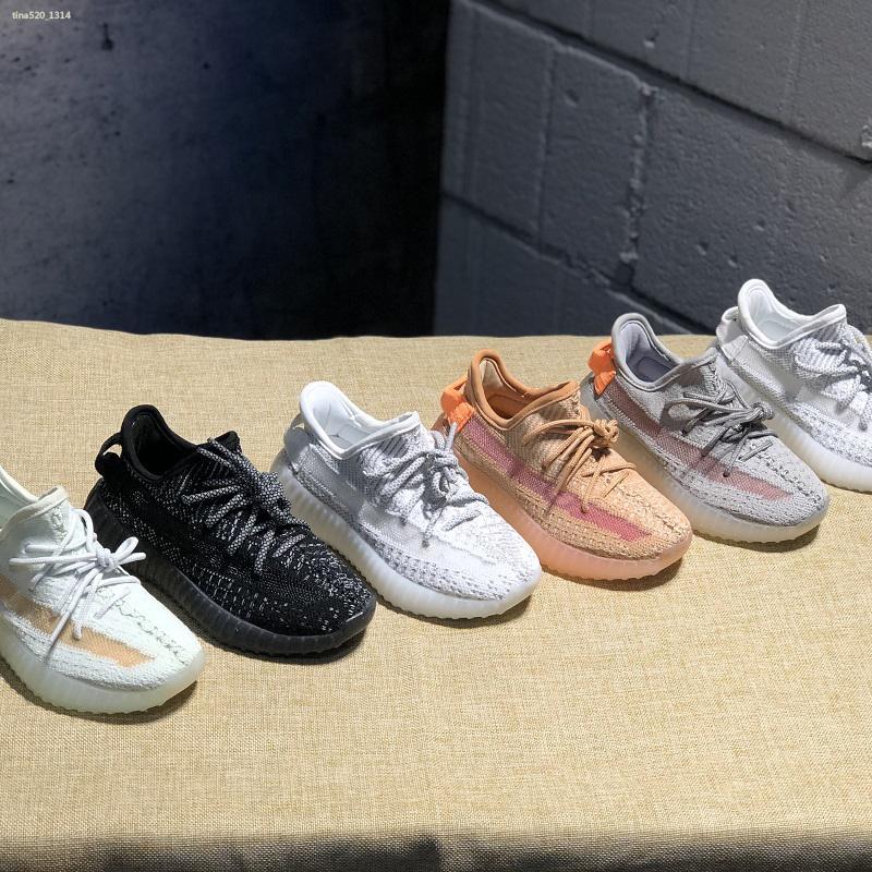 Adidas Yeezy 350 V2 Hyper space Niños Zapatillas de running Clay Kanye West Zapatillas de deporte de moda para niños pequeños grandes niña niño Zapatillas para niños