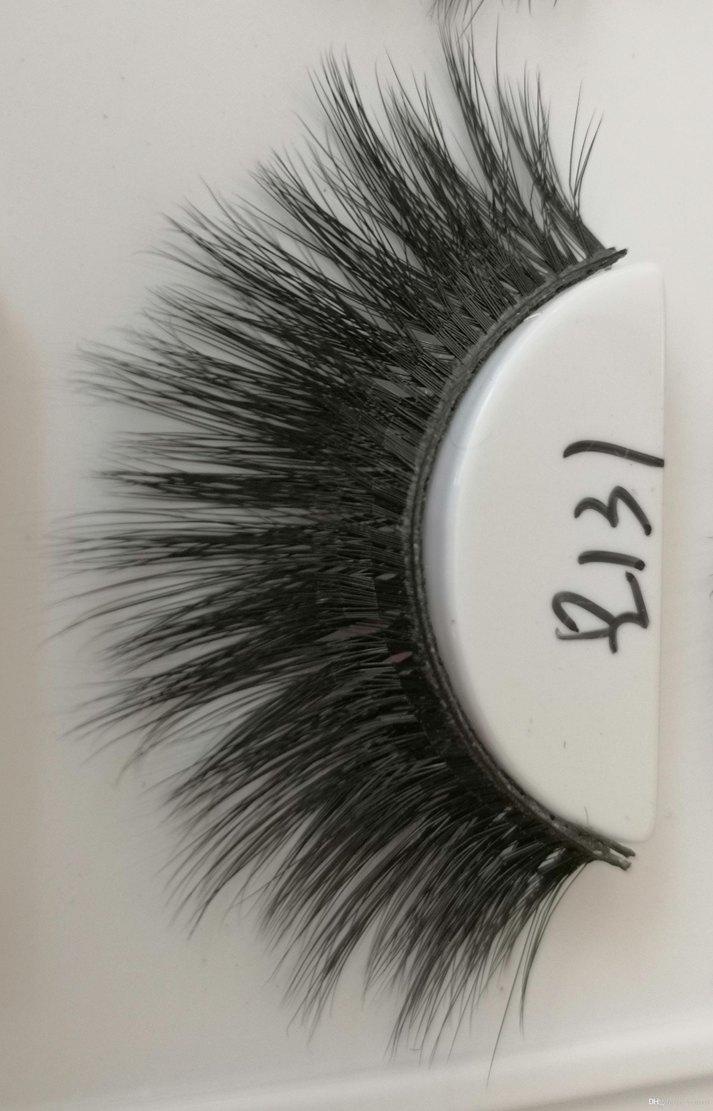 Q131 False eyelashes 3D chemical fiber 0.07 soft natural realistic custom brand custom packaging handmade wholesaler