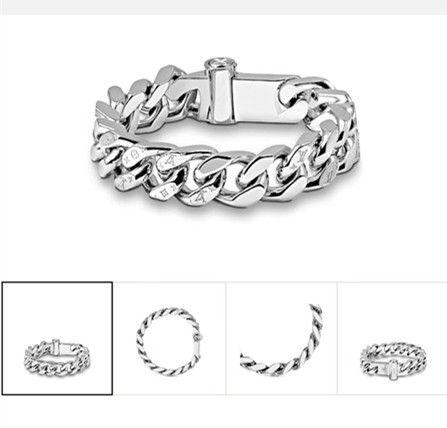 2019 bijoux bracelet design de luxe de marque de mode hommes Loui Bracelet en titane bracelets concepteur chaîne rugueux
