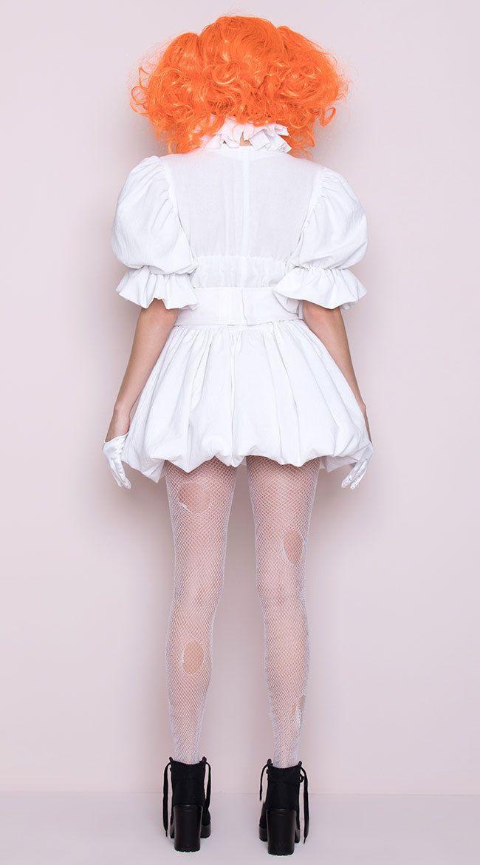 Women/'s Pennywise Costume IT Cosplay Scary Clown Halloween Fancy Dress 1044