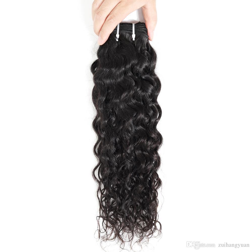 Brasiliano Water Wave Bundle 8-28 pollici Umano 1 Pezzi dei capelli di Remy Offerte Bundle Natural Color