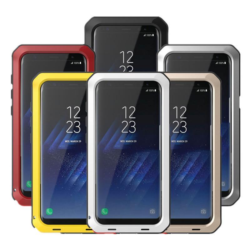 Funda protectora de aluminio de metal para Samsung Galaxy S5 S6 S7 Note 3 4 5 8 9 Edge S8 S9 Plus cubierta