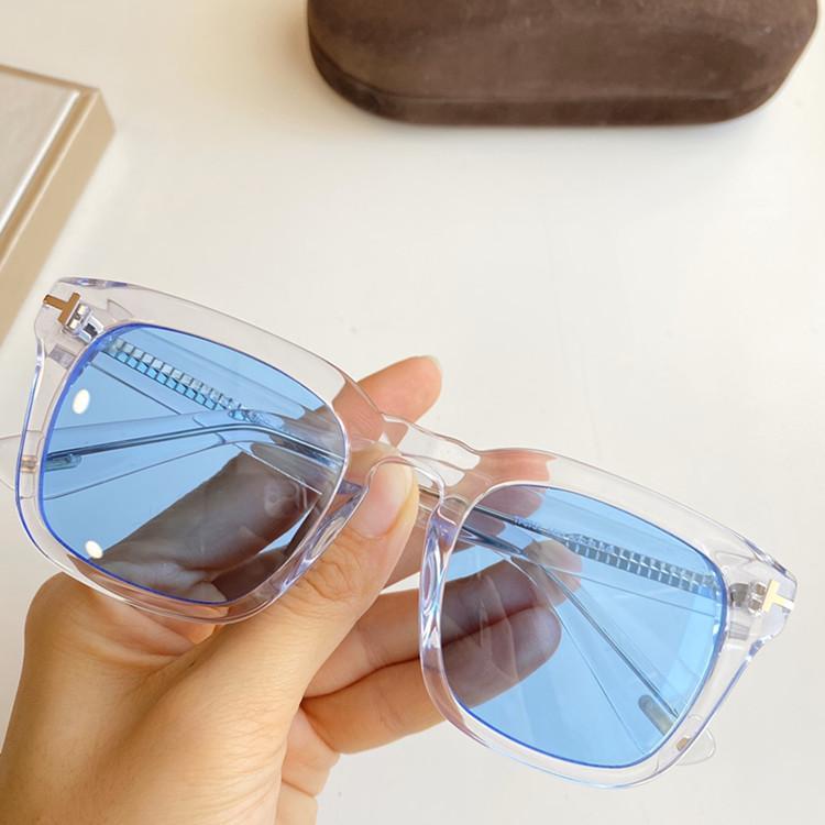 Neueste klassische Art TF0751 unisex Quadrat Sonnenbrille UV400 50-23-145 Imported Planke Felge HD Gradientenlinsen fullset Fall Mode für immer