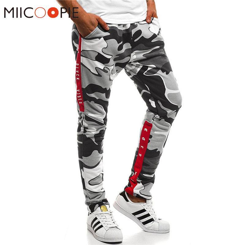 Harem Joggers Men Hip Hop Fitness Padded Camouflage Print Male Trousers Solid Contrast Color Pants Sweatpants Xxxl SH190816