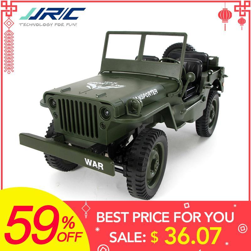 Großhandel Q65 1:10 RC Auto 2,4G 4WD Cabrio Fernbedienung Licht Jeep Allradantrieb Off-Road-Militär Klettern Auto Spielzeug Kind Geschenk
