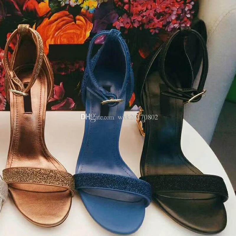 Sandálias de salto alto para mulher, Bombas de couro genuíno com sandálias de salto barroco esculpidas TAMANHO; 34-41