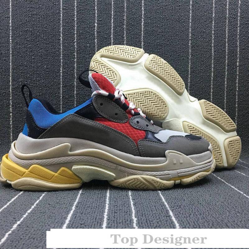 Multi Luxury Triple S Designer Low neue Ankunfts-Sneaker Kombination Soles Stiefel der Frauen Männer Runner Schuhe Top-Qualität Sport-beiläufige Schuh T1A7