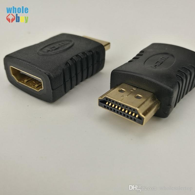 Mini hdmi fêmea para hdmi macho conversor adaptador banhado a ouro conector de cabo para hdtv 1080 p xbox 360 100 pçs / lote