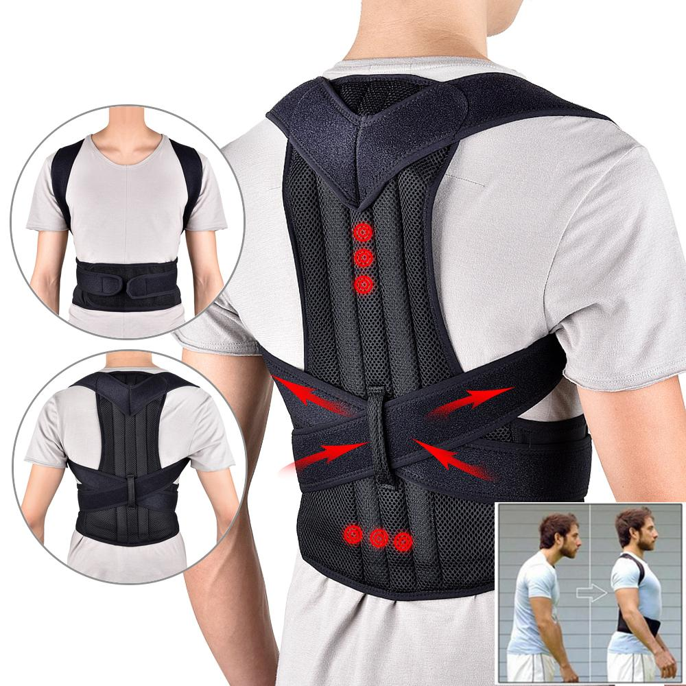 2020 cheap Back Waist Posture Corrector Adjustable Adult Correction Belt Waist Trainer Shoulder Lumbar Brace Spine Support Belt Vest