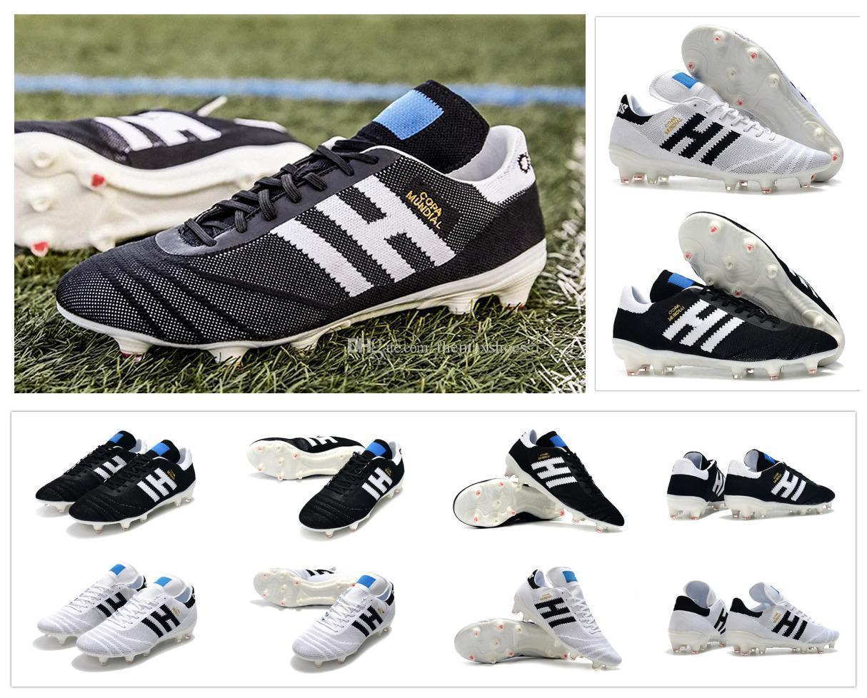Copa New 2019 70Y FG Black/White/Red 70 Year limited-edition Mens Primeknit Copa Mundial Soccer Football Shoes Boots Cheap Cleats Size 39-45