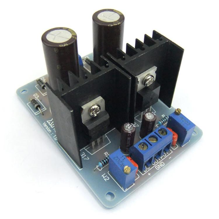 LM317 Adjustable Power Supply Finished Board AC 1.5-18 V to DC 2-25V Dual Power Supply Adjustment Module
