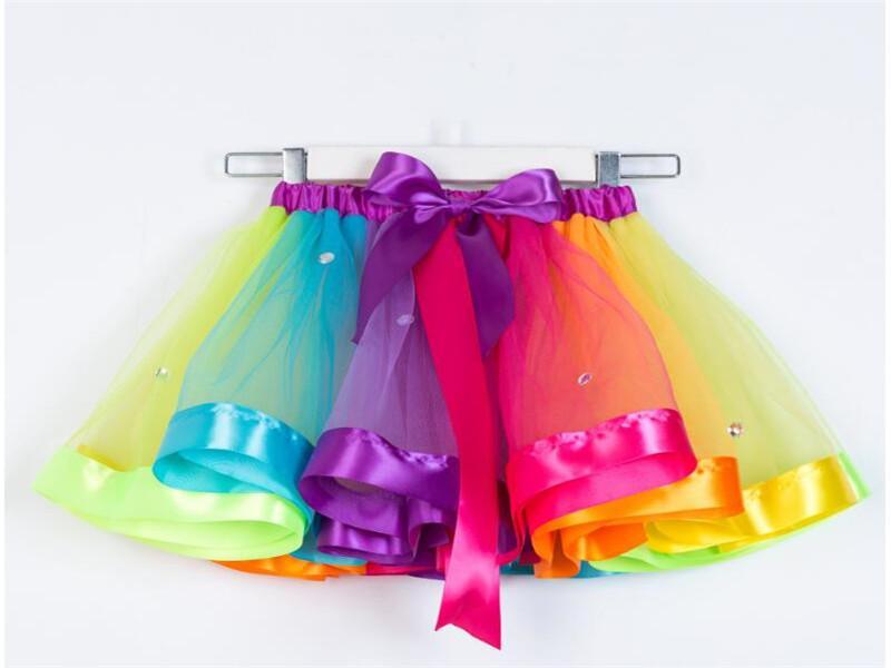 Kız Tutu Elbise Gökkuşağı Prenses Parti Elbise Bebek Bebek 3 11 Yıl Doğum Kıyafetler Çocuk Giyim için