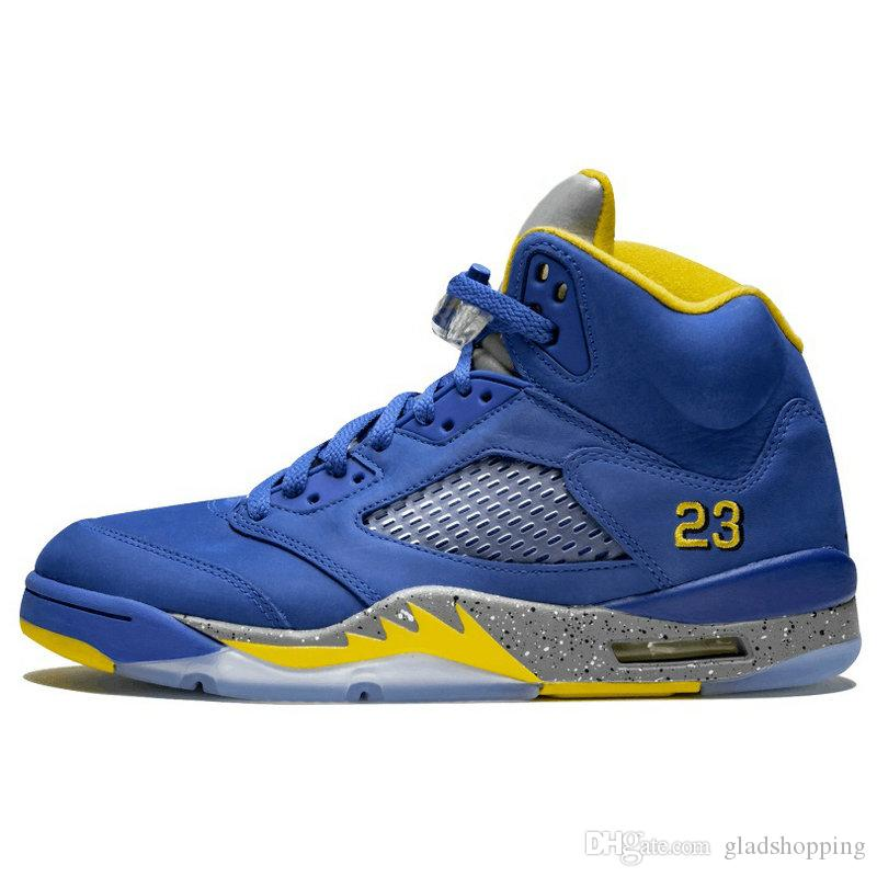 5 Laney Blue Suede White Cement Camo